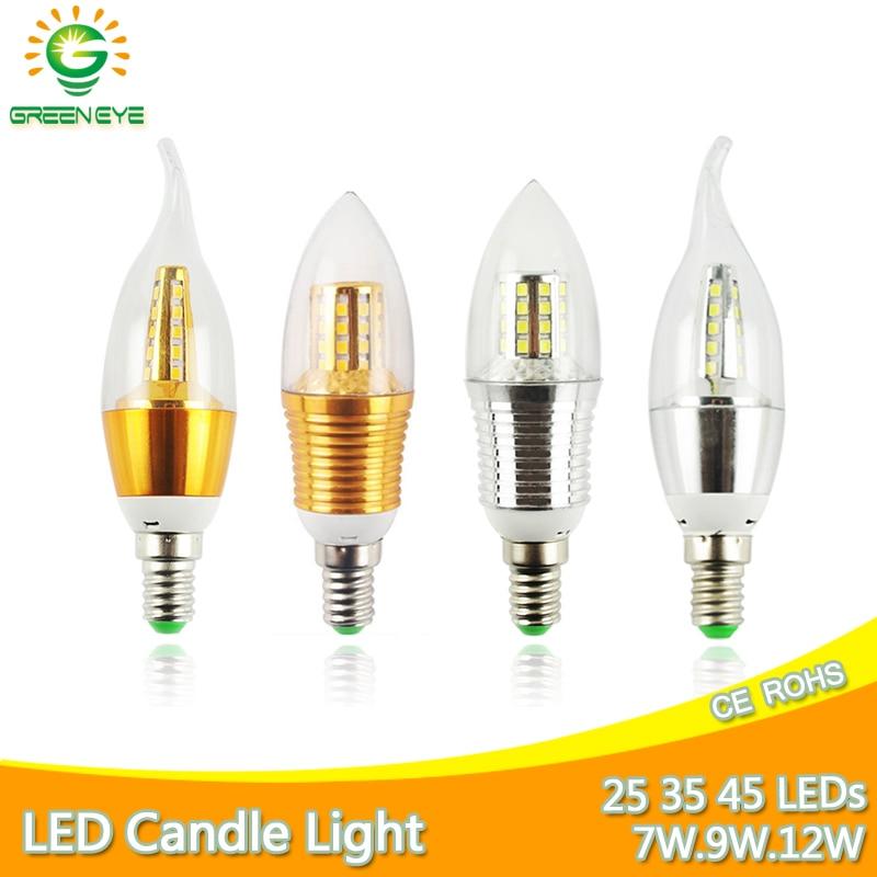 Led Bulb E14 3W 6W 9W 12W Led Lamp AC 220V 240V LED Candle Bulb Aluminum Cool Warm White Lampada Bombillas Lumiere Led Light