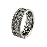 FANDOLA Rings Vintage Fascination Ring 925 Sterling Silver Rings for Women anillos plata 925 para mujer bague femme aneis