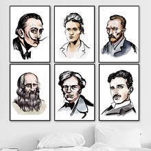 World Famous Artist Scientist Celebrity Wall Art Canvas Painting Nordic Posters And Prints Pictures For Living Room Decor