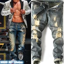 2017 new men jeans American Movie stars same style knees holes Male Casual hihg street biker jeans jeans men #1820