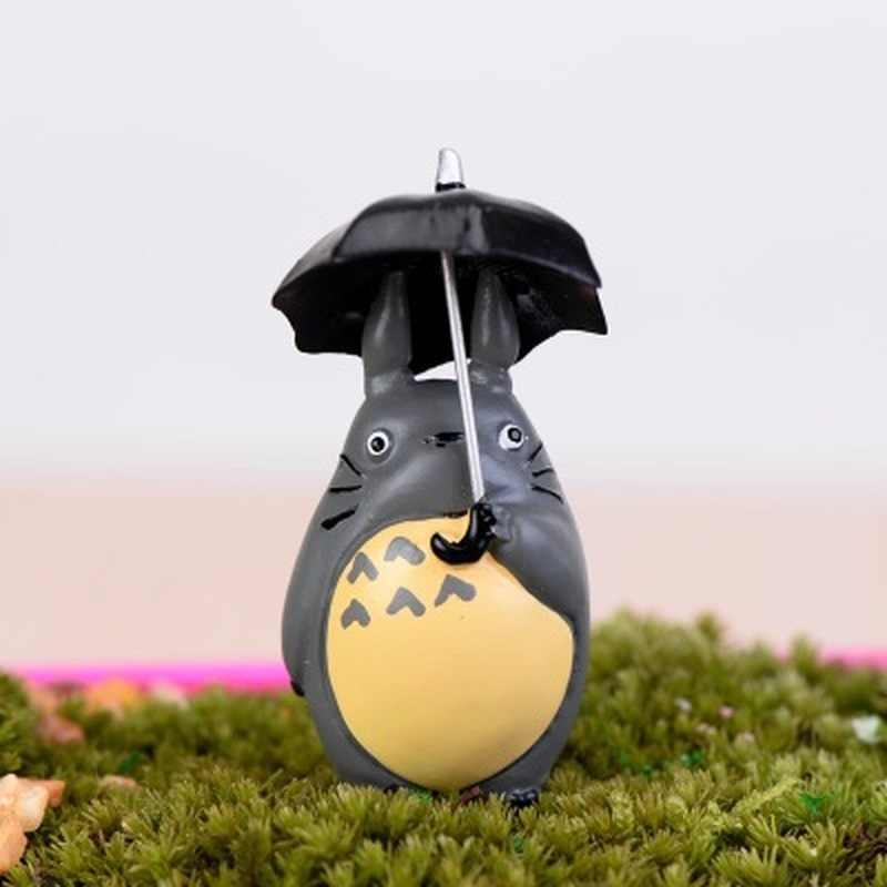 5 centímetros Mini Brinquedo Novo Meu Vizinho Totoro Figura com Guarda-chuva Figurens Ação Boneca de Presente de Natal Decoração Do Partido