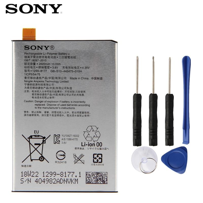 Bateria original de sony para sony xperia x l1 f5121 f5122 f5152 g3313 lip1621erpc 2620 mah bateria de substituição de telefone autêntico