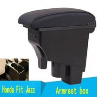 Arm Rest Rotatable For Honda Fit Jazz 2002 2007 Hatchback Center Centre Console Storage Box Armrest 2003 2004 2005 2006 2007