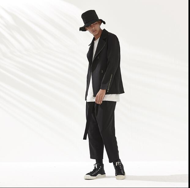 Ropa Size Negro S Harem 2018 Hombres 3xl Flojos Coreanos Plus Catwalk Personalidad Estilista Moda Pantalones BBWq6wcOE