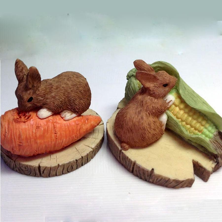 ᗗ3D codicioso ratón con zanahoria maíz silicona jabón molde moldes ...