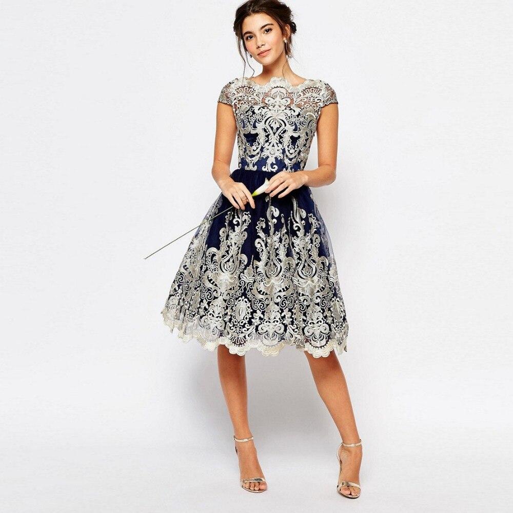 Élégante Prom Up Évider Or Date Nouvelles Gratuating Robes Courte XqwtUYt