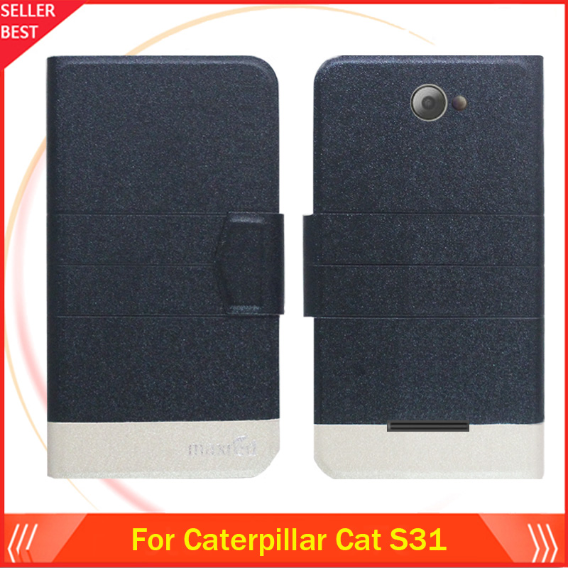 Us 39 9 Off5 Colors Hot Caterpillar Cat S31 Case Ultra Thin Fashion Leather Exclusive Phone Cover Folio Book Card Slots Free Shipping In Flip