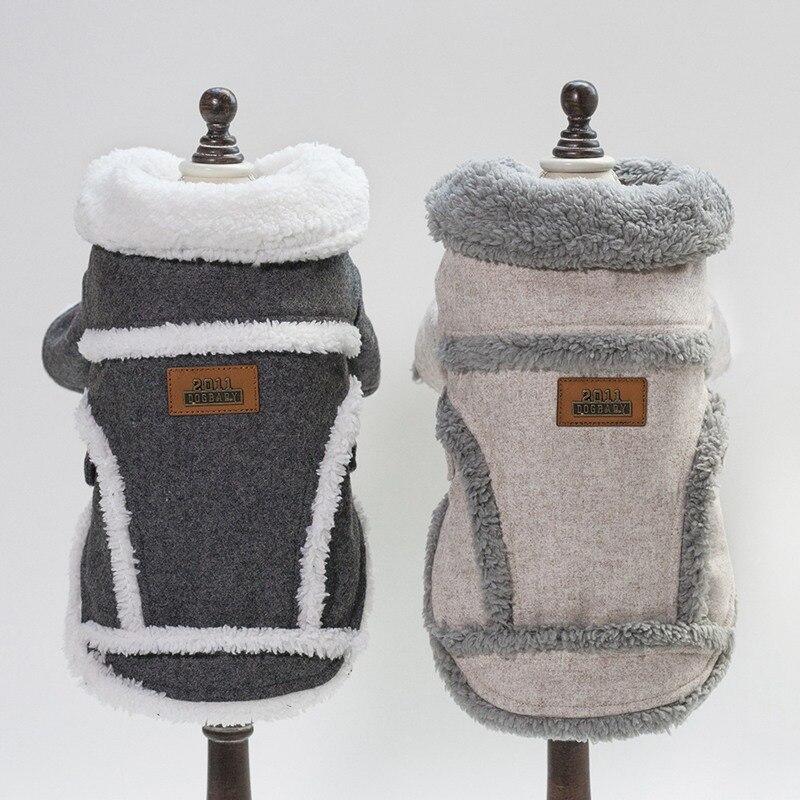 Automne Hiver Vêtements Pour Animaux De Compagnie Pour Chien Manteaux Chiot Chat Vêtements Coton Petit Chien Vêtements Hiver Chaud Veste de Style de Mode Par chien