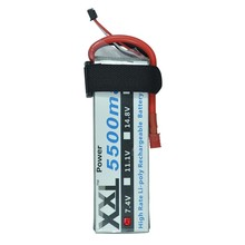 XXL RC Lipo Battery 2S 7.4V 5500mAh 50C For Helicopter Quad copter Airplane Helicopter