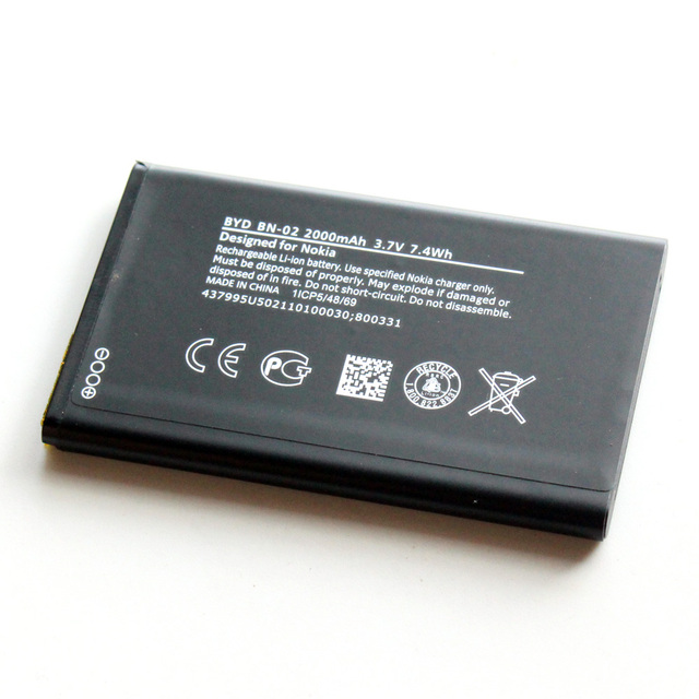BN-02 BN02 2000mAh 3.7V Mobile Phone Replacement Battery For Nokia XL / XL 4G RM-1061 RM-1030 RM-1042 RM 1061