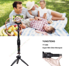 YUNTENG Tabletop Kits:Bluetooth Remote Stand Selfie Stick Tripod Monopods For iPhone 6S 7 Plus Samsung Galaxy S8 Android
