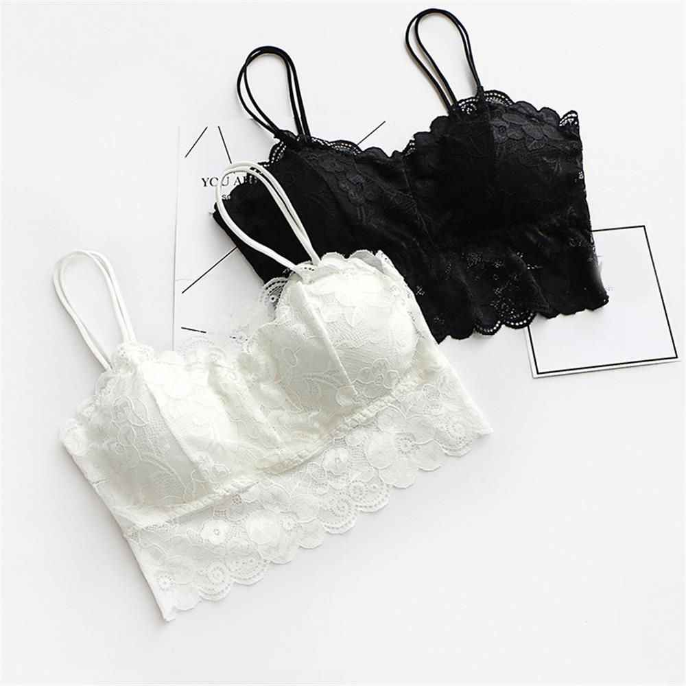 e9c402bdf Detail Feedback Questions about Hot Sexy Bra Lace Top Camisole Bralette For Women  Sexy Lingerie Underwear Wireless Padded Seamless Bra Ultra Strap Padded ...
