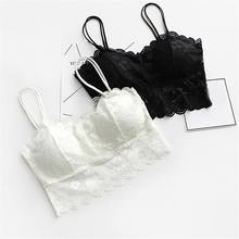 d4403652eac Hot sexy underwear women crop top 2018 fashion Sheer Lace floral Bralette  Bras Strappy tops lingerie