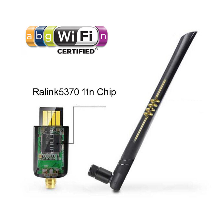 Image 4 - 150 Mbps USB Ralink 5370 with 2dbi External WiFi Wireless Adapter Network Lan Card Portable Receiver-in TV Antenna from Consumer Electronics