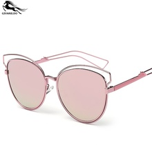 Summer Luxury Gold Cat Eye Women Sunglasses UV400 Lady Eyewear Sun Glasses Beach Individuality Metal Alloy Frame G144