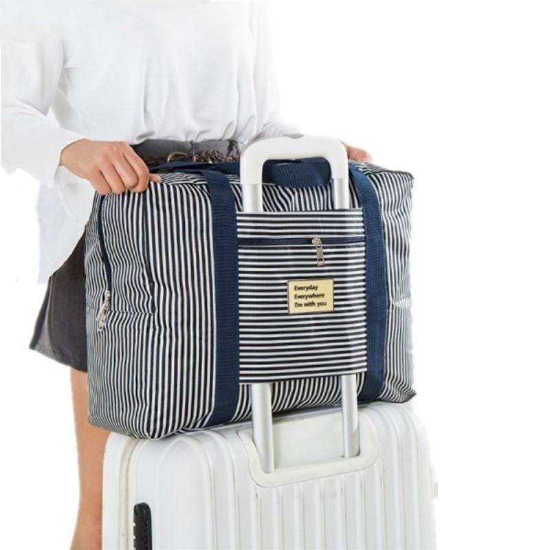 LHLYSGS Marca Embalaje Cubos Mujeres Bolsa de viaje Bolsa de equipaje de mano Gran capacidad Bolsa de viaje impermeable Hombres Trolley Maleta Bolsa