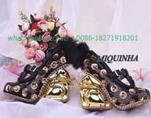 new design rabbit heel women pumps chrysanthemum beads lace platform black pink shoes hollow out buckle strap fur ribbon shoes