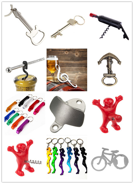 Fashion Useful Guitar Beer Bottle Opener Keychain Creative Kitchen  Accessories Key Ring Openers Home Decor