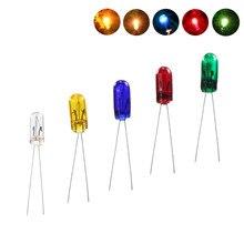 """MP02 100 יחידות 3 מ""""מ 12 v מיני תבואה של חיטה נורות מעורב צבע אדום/צהוב/כחול/ ירוק/לבן חדש"""