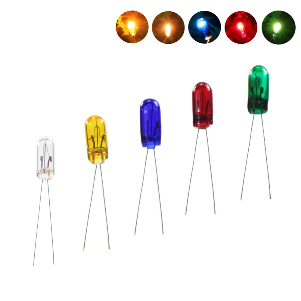 100 pcs Grain of Wheat 3mm Clear 6V Bulbs with wires