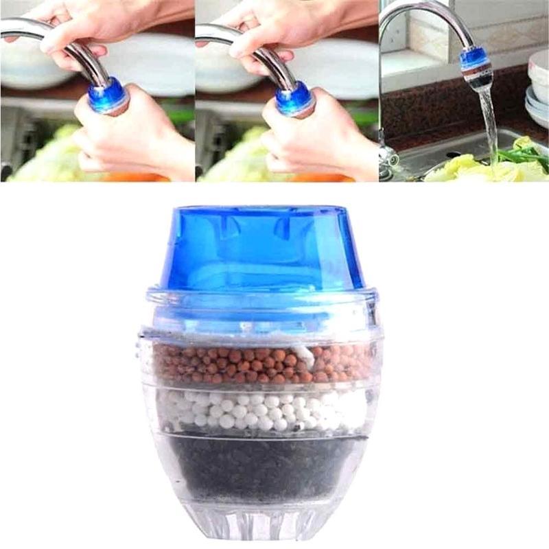 New Coconut Carbon Household Kitchen Mini Faucet Tap Water Clean Purifier Filtration Cartridge Random Color