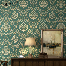 European Luxury Non-woven Wallpaper Modern Damask For Living room Walls Bedroom Embossed Wall Papers Home Improvement