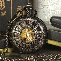 Tiedanสีดำs teampunkโครงกระดูกวิศวกรรมนาฬิกาพ็อก