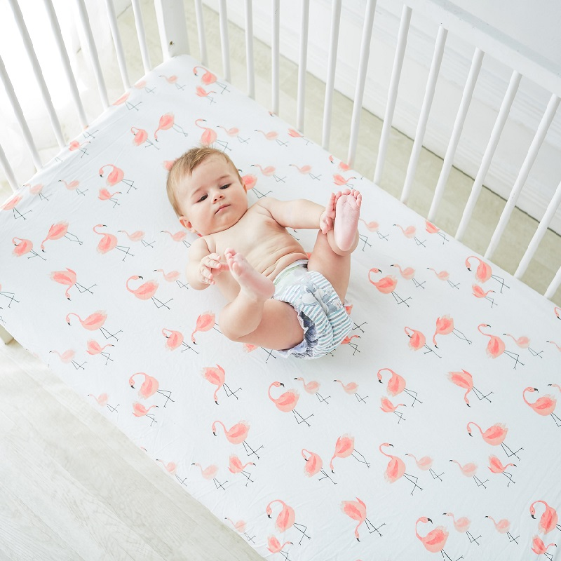 021ac4cdccdab Lit matelas feuille nouveau-né coton ajusté bébé berceau Draps couverture  protecteur bambin literie Lit