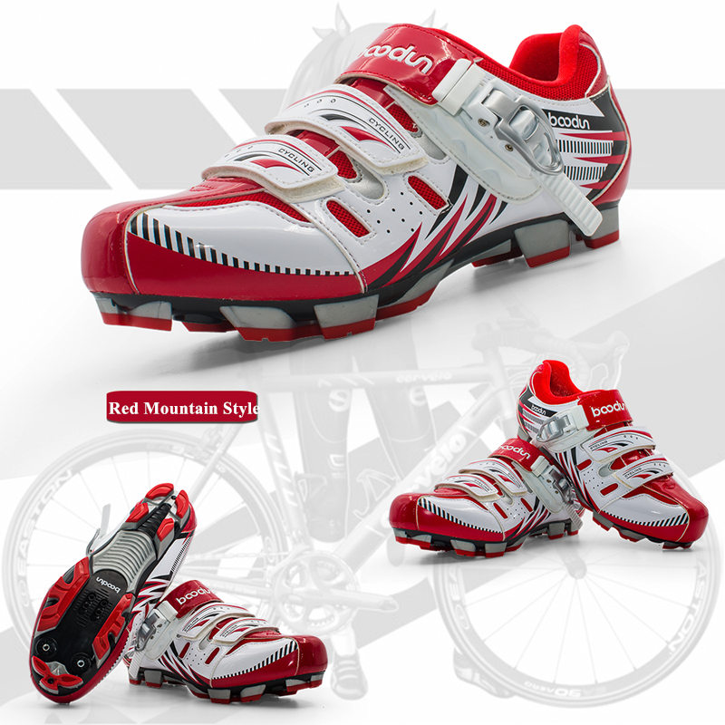 Boodun Mountain Cycling Shoes Men Pro Bike Shoes TPU Breathable Athletic Self-locking R Bicycle Shoes Chaussure Velo