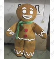 game gingerbread mascot costumes character bread walking man costumes biscuit