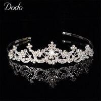 De luxe en cristal clair strass couronne bandeau bandeau de mariage de mariée tête porter mignon libellule Colombe de Paix Charme tiara cadeau HF17