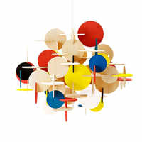 Crianças Quarto Levou Luz Pendant Criativo Diy Multi Color Madeira Arte Decoração Pendurar Dispositivos Elétricos Da Lâmpada de Iluminação Frete Grátis