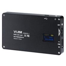 VIJIM VL-2 RGB LED Photo Studio Video Light 2500K-8500K Full Color On Camera Photography Lighting Lamp with Type-C Port стоимость