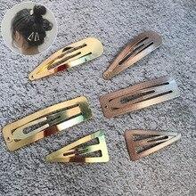 6 шт./лот, большая длина, 5-7 см, металлические изогнутые заколки для волос, золотые цвета, заколки для волос, Sleepy Shool, заколки для волос для женщин и девочек