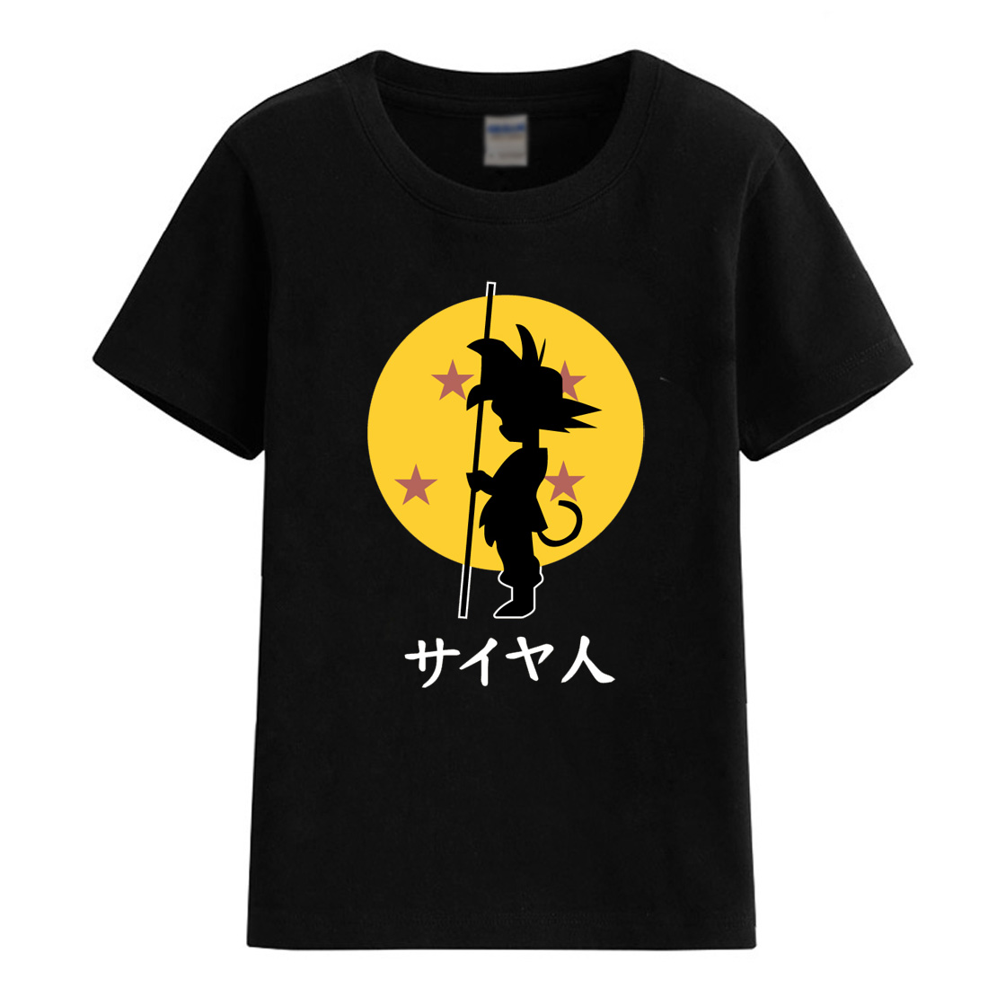 2018 summer Dragon Ball Z Goku childrens clothing boys T-shirts for girls fashion casual brand tops anime tshirts baby T-shirt