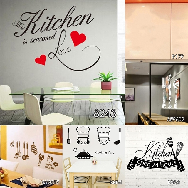 Dsu Desain Kreatif Diy Stiker Dinding Dapur Dekorasi Wallpaper Decal Home Decor Restaurant Art