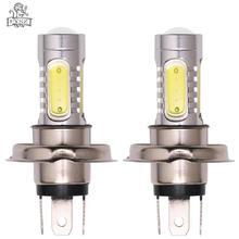 купить 2Pcs H4 9003 HB2 7.5W LED COB 6500K 900lm 5 smd White Light Car Foglight Headlamp Silver + Yellow 2Pcs (10~30V) дешево