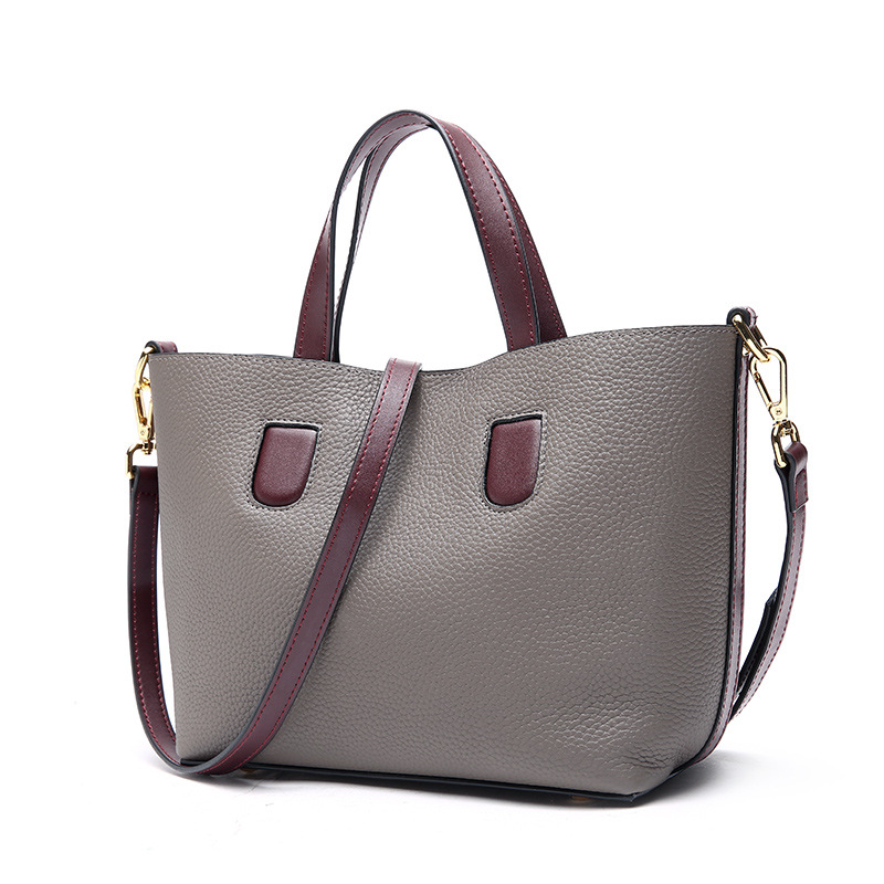 Factory Direct Sale Genuine Leather Women's Bag A Set of Two Pieces Cowhide Handbag Ladies Shoulder Shopping Bag High-quality сетевой фильтр эра sf 5es 2m w 2м белый [c0039530]
