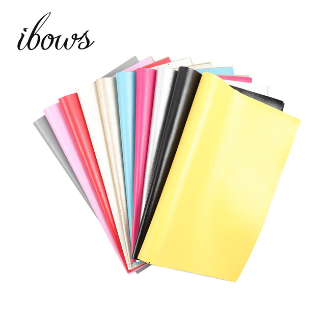 22CM*30CM Soild Color Faux Leather Fabric Sewing Artificial Synthetic Pu For Sewing Bags Shoes Material DIY Craft Materials
