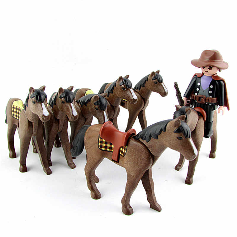 Playmobil Figures Animal Model Toy Horse Saddle Accessories Playmobil Action Figurines Horse Doll Kids Gifts Toys for Children