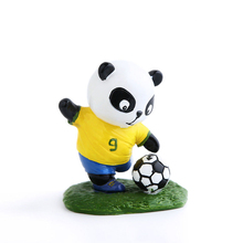 E-FOUR Football Panda Dolls Resin with Hand-paint Artist Cute Decoration Cars Interior Accessories National Team Mascot Ornament
