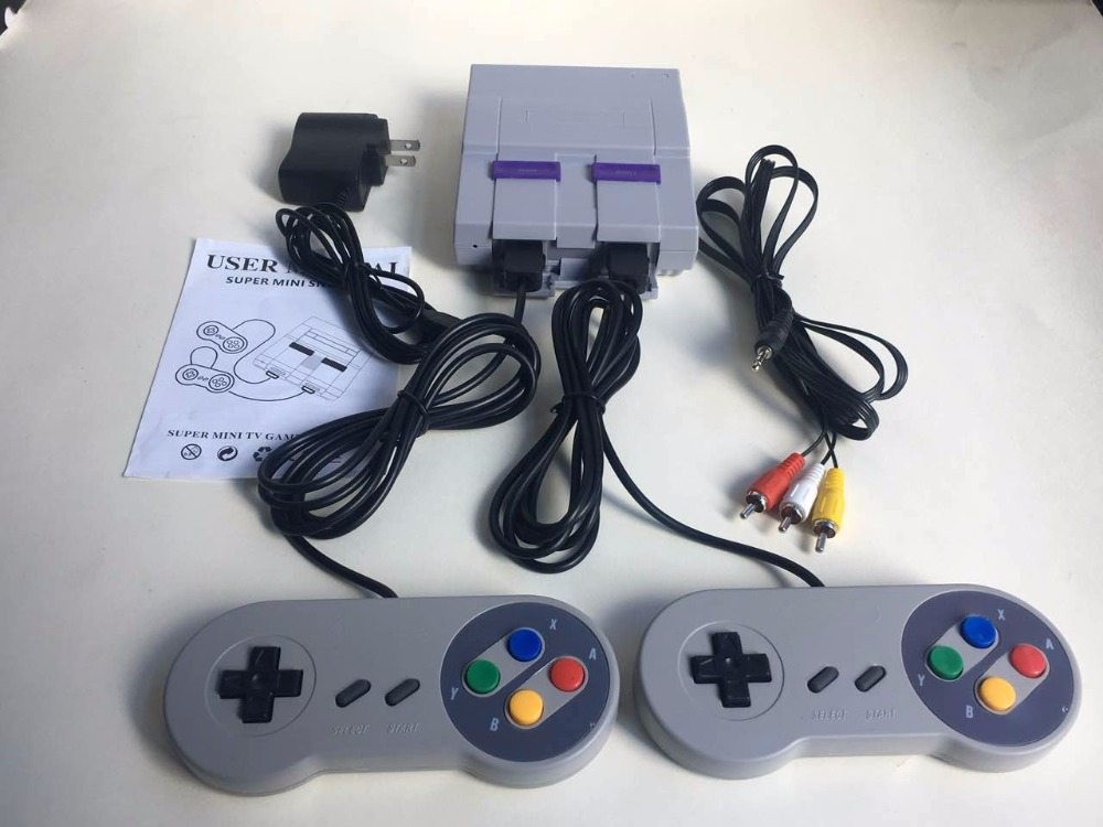Real 16 Bit Built-in 94 Games Mini Video Game Console for SNES Style with Alien 3/Sonic/Wild Guns/Final Fight/Mega Man X, etc.