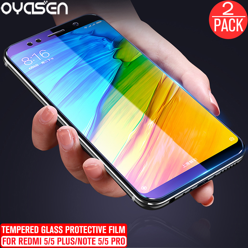 2Pcs lot For Xiaomi Redmi Note 5 Pro Redmi 5 Plus 9H Explosion proof Anti Blue Light Tempered Glass Screen Protector Film in Phone Screen Protectors from Cellphones Telecommunications