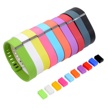 10pcs Colorful Replacement Silicone Strap Wristband Smart Band watchband with Metal Clasps (No Tracker) for Fitbit Flex TH435