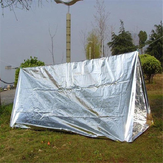 240x150x90cm PET Sun shelter Outdoor Waterproof Camping Shelter Emergency Safety Tent Survival Awing Shelter Sunshade