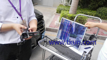 Aerial photography highlighting monitor,17-inch high brightness display Visual touch display in sunlight