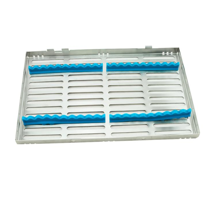 2017 NEW Dental Sterilization Cassette Rack Tray Box for 20 Surgical Instruments 1pc dental tool implant bur drill sterilization cassette kit organizer box new