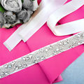 TOPQUEEN S164 Crystal Rhinestones Wedding Evening Party Gown Dresses Accessories Bride Bridesmaid Bridal Waist Belts Sashes