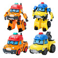 2 unids/lote Bucky Marca Corea Poli Poli Robot de Juguete Deformación Deformación Juguetes Anime Figuras de Acción Juguetes Para Niños de Coches de Regalo