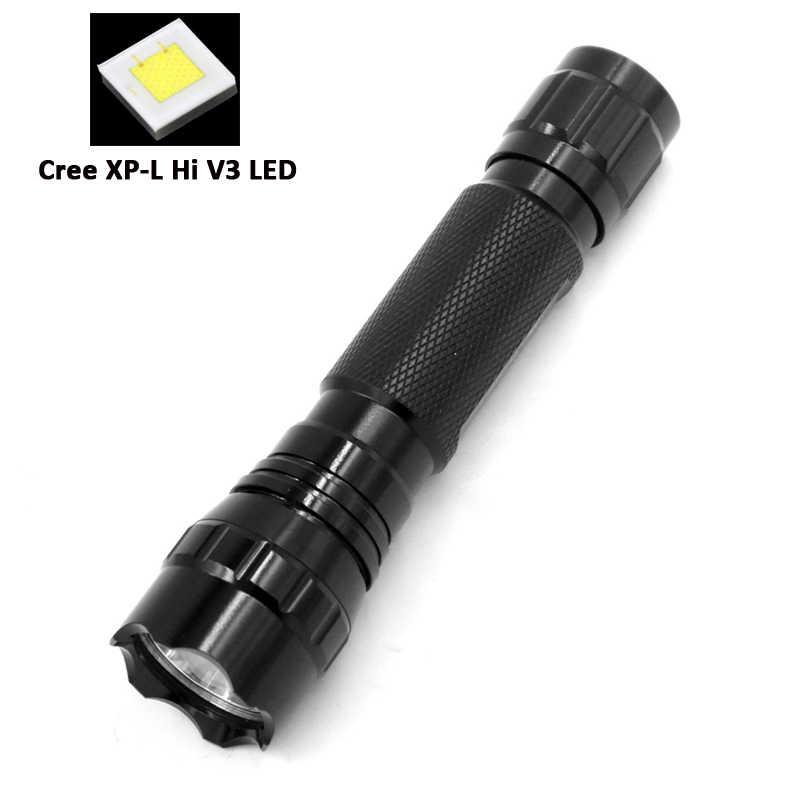 DanceLite WF-501B CREE XP-L Hi V3 10W OP 18650 LED Flashlight; 3-Mode H-M-L